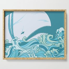 Moby Dick Illustration Serving Tray