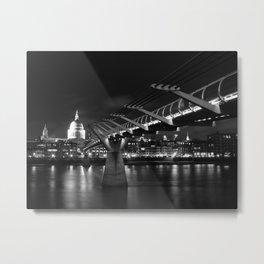 St Paul's Cathedral and Millennium Bridge,London Metal Print