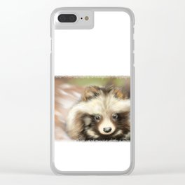 Intrigued Tanuki Clear iPhone Case