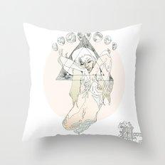 M O O N Throw Pillow