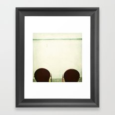 Red Chairs Framed Art Print