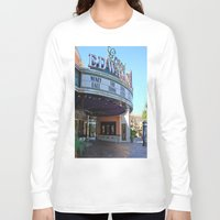 movies Long Sleeve T-shirts featuring Day at the movies by Debra Slonim Art & Design