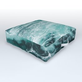 Water Photography | Sea | Ocean | Pattern | Abstract | Digital | Turquoise Outdoor Floor Cushion