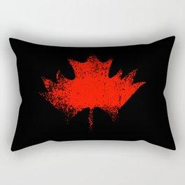Maple leaf dark red Rectangular Pillow