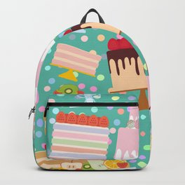 Birthday, valentine's day, wedding, engagement. Set sweet cake, chocolate icing sprinkles Backpack