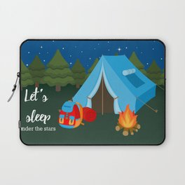 Camping blue tent Laptop Sleeve