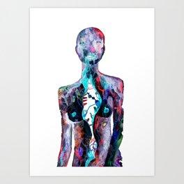 Corpo Instabile, fragili movimenti Art Print