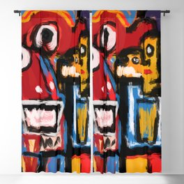 Art Brut Outsider Art Street Graffiti Blackout Curtain