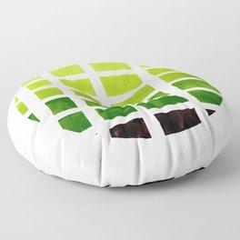 Watercolor Sap Green Minimalist Mid Century Modern Square Matrix Geometric Pattern Round CircleFrame Floor Pillow