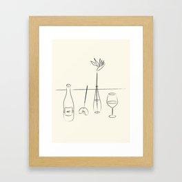 Modern Day Minimalist Still Life - Line Art Framed Art Print