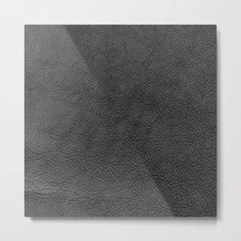 Saddle in Dark Gray Metal Print