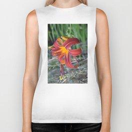 Orange Lily Biker Tank