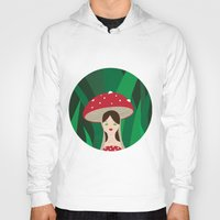 mushroom Hoodies featuring Mushroom by Tourmaline Design
