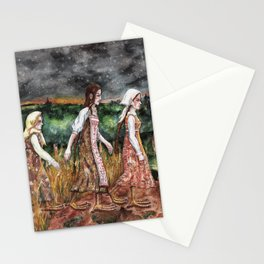 Maidens from the deep forest Stationery Cards