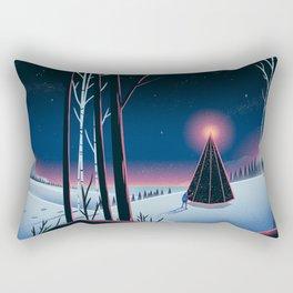 Forest Fire Rectangular Pillow