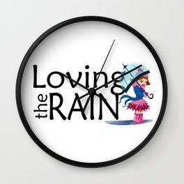 Loving the Rain Wall Clock