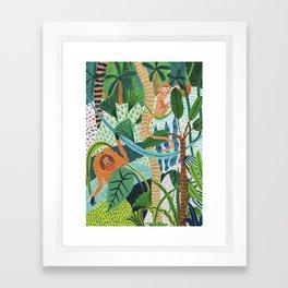 Monkey Pals Framed Art Print