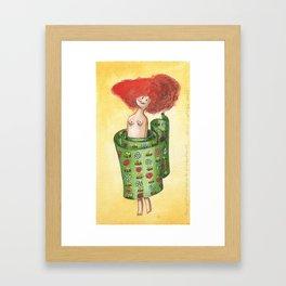 The Most Beautyful Wrap-Skirt (Der allerschönste Wickelrock) Framed Art Print