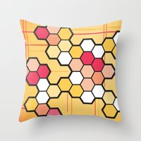 community Throw Pillows featuring Community by Barb Sotiropoulos