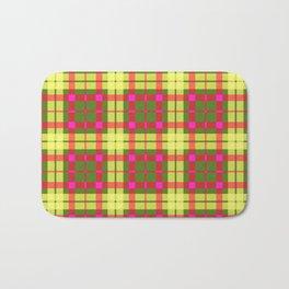 Yellow and red Tartan (Scotch) Pattern Bath Mat