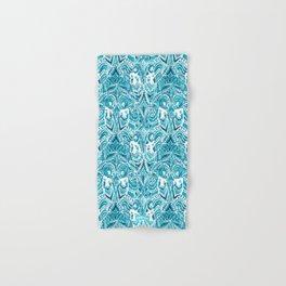 #MERMLIFE Blue Ikat Watercolor Mermaids Hand & Bath Towel