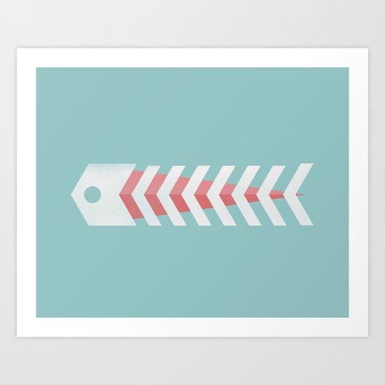 Minimalistic Fish Art Print