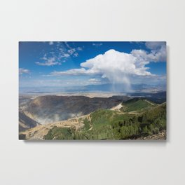 Squall over the Bingham Canyon Mine  Metal Print
