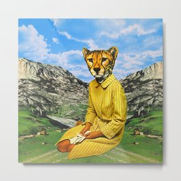 Cat Madam Metal Print