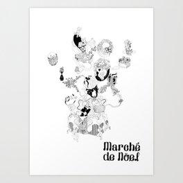 Marche White - color yourself. Art Print