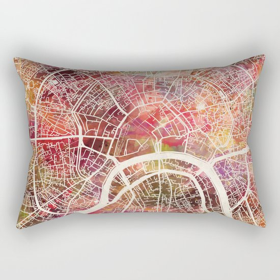 Moscow Map Rectangular Pillow