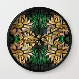 Yellow Floral Bouquet Wall Clock