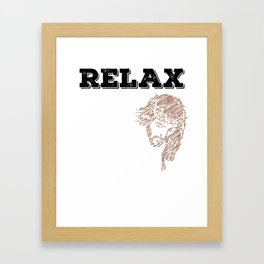 """""""Relax, Jesus got this"""" tee design for religious and spiritually active and awesome person like you! Framed Art Print"""