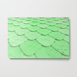 Pattern of green rounded roof tiles Metal Print