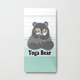 Yoga Bear Metal Print