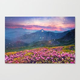 Blooming mountains Canvas Print