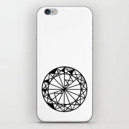 Diamond - round cut geometric design iPhone Skin