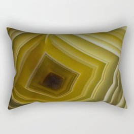 Earth Treasures -Yellow Agate Rectangular Pillow