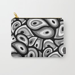 Abstract Mid Century Modern Paisley Pattern Carry-All Pouch