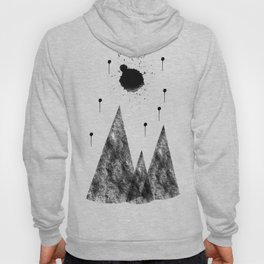 Full Moon and Stars high above the Mountains Abstract Hoody