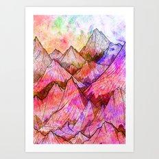Peaks of Colours Art Print