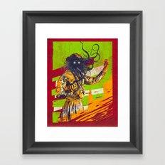 Mad scientist Framed Art Print