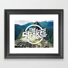 The Strokes Logo Machu Picchu Framed Art Print