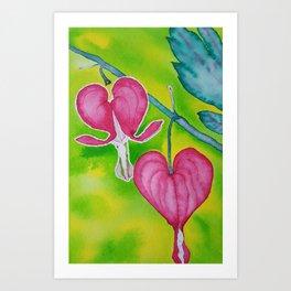 Bleeding Heart Take Flight Art Print