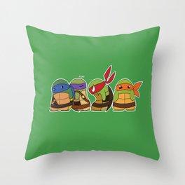 Jellybean Turtles  Throw Pillow