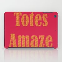 totes iPad Cases featuring Totes Amaze Pink/Yellow by PintoQuiff