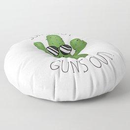 Sun's Out Guns Out! Floor Pillow