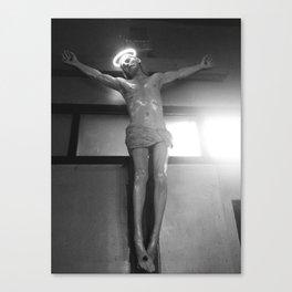 neon jesus. Canvas Print