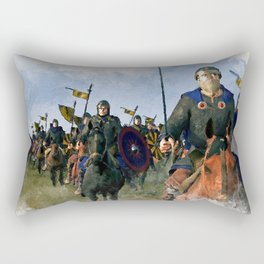 Medieval Army in Battle Rectangular Pillow