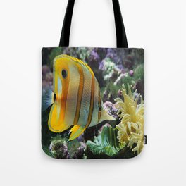 Yellow Longnose Butterfly Fish Tote Bag