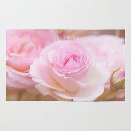 vintage pink rose Rug